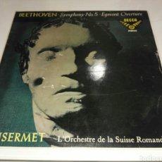 Discos de vinilo: ANSERMET- LP BEETHOVEN SYMPHONY N°5- DECCA SXL 2003-1958 2. Lote 100262699