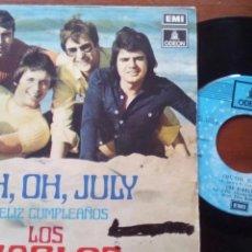Discos de vinilo: LOS DIABLOS OH OH JULY SINGLE. Lote 100284334