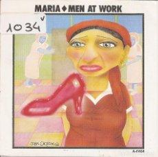 Discos de vinilo: MEN AT WORK - MARIA (SINGLE PROMO ESPAÑOL, CBS 1985). Lote 100322651