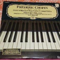 Dischi in vinile: L.P.: ENCICLOPEDIA SALVAT DE LOS GRANDES COMPOSITORES Nº 15 (FRÉDÉRIC CHOPIN: CONCIERTOS PARA PIANO). Lote 100325515