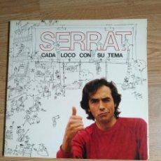 Discos de vinilo: JOAN MANUEL SERRAT - CADA LOCO CON SU TEMA - LP 1983 - DOBLE CARPETA . Lote 100326679
