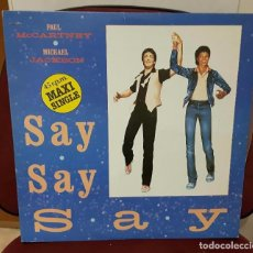 Discos de vinilo: PAUL MCCARTNEY - BEATLES - SAY SAY SAY - MAXISINGLE - ESPAÑA- 1983 - MICHAEL JACKSON- EXCELENTE. Lote 100331627