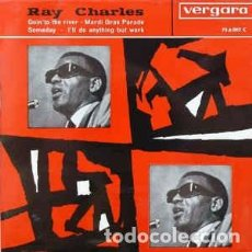 Dischi in vinile: RAY CHARLES - I'LL DO ANYTHING BUT WORK / MARDI GRAS PARADE+2 (VERGARA, 75.6.002 C 7'', EP 1963). Lote 100341403