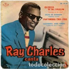 Discos de vinilo: RAY CHARLES - GEORGIA DE MI CORAZÓN (ABC-PARAMOUNT, HISPAVOX – HP 97-34 7'', EP 1960). Lote 100341447