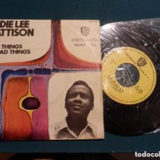 Discos de vinilo: EDDIE LEE MATTISON - GOOD THINGS AND BAD THINGS+1DISCOGRÁFICA TALAR, S.A.,T.2.011 7'', SINGLE 1970). Lote 100342011