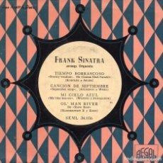 Discos de vinilo: FRANK SINATRA, EP, TIEMPO BORRASCOSO + 3, AÑO 1959. Lote 100360963