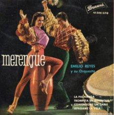 Discos de vinilo: EMILIO REYES Y SU ORQUESTA, EP, LA PACHANGA + 3, AÑO 1961. Lote 100361503