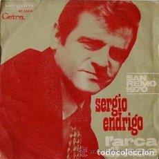 Discos de vinilo: SERGIO ENDRIGO - 45 SPAIN PS - L ARCA DI NOE / DALL AMERICA - SAN REMO 1970 . Lote 100363411