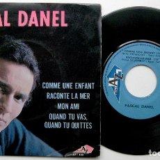 Discos de vinilo: PASCAL DANEL - COMME UNE ENFANT +3 - EP DISC'AZ 1967 FRANCIA BPY. Lote 100369907
