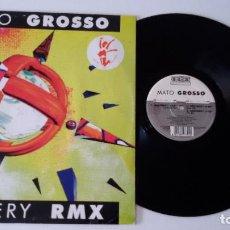 Discos de vinilo: MATO GROSSO - MISTERY (REMIX). Lote 100371647