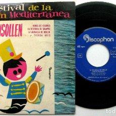 Discos de vinilo: GENSOLLEN - FESTIVAL DE LA CANCIÓN MEDITERRÁNEA - LA MURALLA DE BERLÍN +3 - EP DISCOPHON 1962 BPY. Lote 100384095