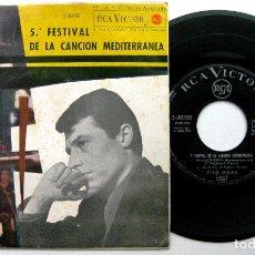 Discos de vinilo: TITO MORA - V FESTIVAL DE LA CANCIÓN MEDITERRÁNEA - MI AMOR POR TI +3 - EP RCA VICTOR 1963 BPY. Lote 100384499