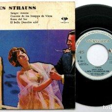 Discos de vinilo: SIMON KRAPP - JOHANNES STRAUSS - SANGRE VIENESA +3 - EP VERGARA 1961 BPY. Lote 100387727