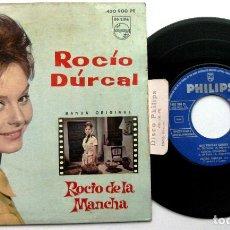 Discos de vinilo: ROCÍO DÚRCAL - ROCÍO DE LA MANCHA - QUE TENGAS SUERTE +3 - EP PHILIPS 1963 BPY. Lote 100389083