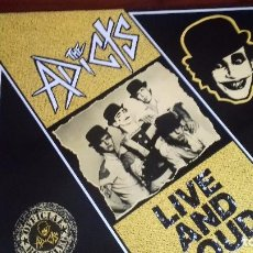Discos de vinilo: THE ADICTS (LIVE AND LOUD)PUNK INGLES 1987.. Lote 100404411
