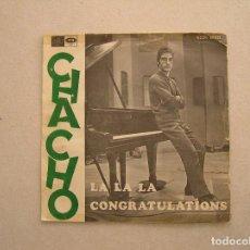 Discos de vinilo: CHACHO* – LA, LA, LA - REGAL 1968 - SINGLE - P. Lote 100415371