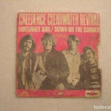 Discos de vinilo: CREEDENCE CLEARWATER REVIVAL – FORTUNATE SON -AMERICA RECORDS 1969 - SINGLE - P . Lote 100417291