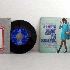 Discos de vinilo: 2 SINGLES EUROVISION KARINA Y SANDIE SHAW BUEN ESTADO AMBOSVG++/VG+ EX/EX. Lote 100419011