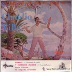 Discos de vinilo: CLAUDIO VILLA - 1ER FESTIVAL DE LA CANCION MEDITERRANEA, BARCELONA 1959 (SOLO CARATULA) . Lote 100428311