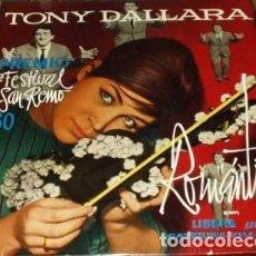 Discos de vinil: TONY DALLARA CON CATERINA VILLALBA : SAN REMO 1960. (LP. ZAFIRO, 1960). Lote 100428343
