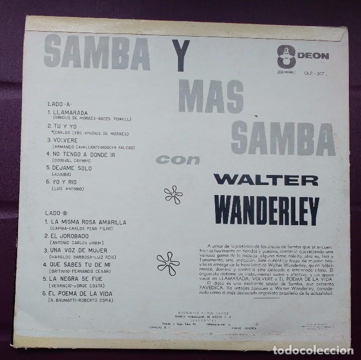 Discos de vinilo: Walter Wanderley - Samba y mas Samba. Odeon. Edición Venezolana. - Foto 2 - 100442103
