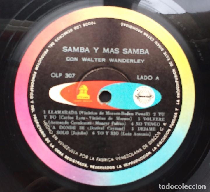 Discos de vinilo: Walter Wanderley - Samba y mas Samba. Odeon. Edición Venezolana. - Foto 4 - 100442103