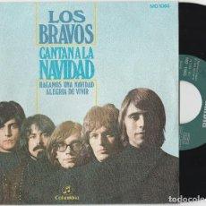 Discos de vinilo: LOS BRAVOS - CANTAN A LA NAVIDAD (SINGLE COLUMBIA 1970). Lote 100446267