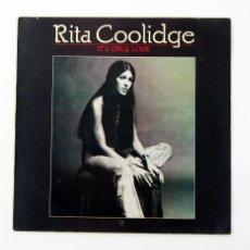 Discos de vinilo: RITA COOLIDGE - IT'S ONLY LOVE (LP, VINILO, A&M 1975). Lote 100493107