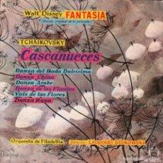 Dischi in vinile: WALT DISNEY FANTASÍA - CASCANUECES - ORQUESTA DE FILADELFIA - EP DISNEYLAND DE 1960 RF-3215. Lote 100507527