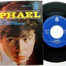 Discos de vinilo: RAPHAEL - LOS HOMBRES LLORAN TAMBIEN +3 - EP HISPAVOX 1964 BPY. Lote 100520899