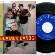 Discos de vinilo: LOS 3 SUDAMERICANOS - CIAO AMORE, CIAO +3 - EP BELTER 1967 BPY. Lote 100522619