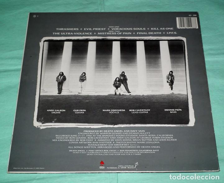 Discos de vinilo: LP DEATH ANGEL - THE ULTRAVIOLENCE - Foto 2 - 100541167