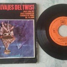 Discos de vinilo: LOS SALVAJES DEL TWIST: TWIST OTRA VEZ + 3 (CBS 1963). Lote 100558339
