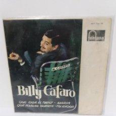 Discos de vinilo: EP ** BILLY CAFARO ** QUE SIGA EL TWIST..** COVER / VERY GOOD+ (VG+) ** EP / EXCELLENT (EX)1962. Lote 100602175