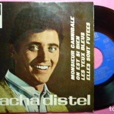 Discos de vinilo: SACHA DISTEL MONSIEUR CANNIBALE / 3+ EP SPAIN PRESS (EX-/VG++) P. Lote 100626983