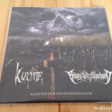 Discos de vinilo: KARONTE/ BLOODY BROTHERHOOD – ALLIANCE FOR DEATH DOMINATION -FORMATO 10 PULGADAS +CDS. Lote 100773443