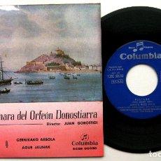 Discos de vinilo: CORO DE CÁMARA DEL ORFEÓN DONOSTIARRA, JUAN GOROSTIDI - FESTARA +3 - EP COLUMBIA 1958 BPY. Lote 100649155