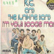 Discos de vinilo: KC AND THE SUNSHINE BAND - I'M YOUR BOOGIE MAN / WRAP YOUR ARMS ARO (SINGLE PROMO ESPAÑOL, RCA 1976). Lote 100690915
