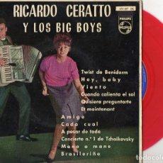 Discos de vinilo: RICARDO CERATTO Y LOS BIG BOYS, EP, TWIST DE BENIDORM + 3, AÑO 1962. Lote 100711771