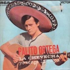 Discos de vinilo: PALITO ORTEGA - LA CHEVECHA / SOY AMIGO DE LAS FLORES - SINGLE RCA DE 1969 RF-3223. Lote 100716727