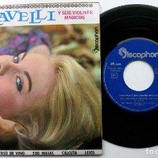 Discos de vinilo: CARAVELLI - UNA GUITARRA Y UN VASO DE VINO +3 - EP DISCOPHON 1963 BPY. Lote 100719691
