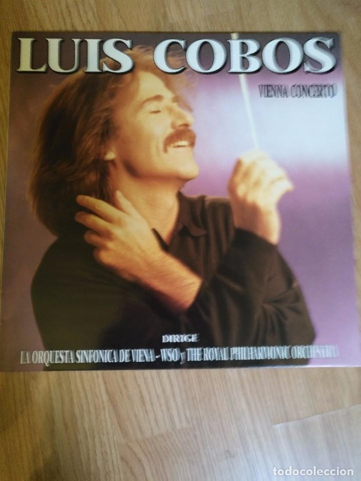 LUIS COBOS - VIENNA CONCERTO - LP 1988 CBS ORQUESTA SINFONICA DE VIENA (Música - Discos de Vinilo - EPs - Clásica, Ópera, Zarzuela y Marchas)