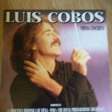 Discos de vinilo: LUIS COBOS - VIENNA CONCERTO - LP 1988 CBS ORQUESTA SINFONICA DE VIENA . Lote 100720139