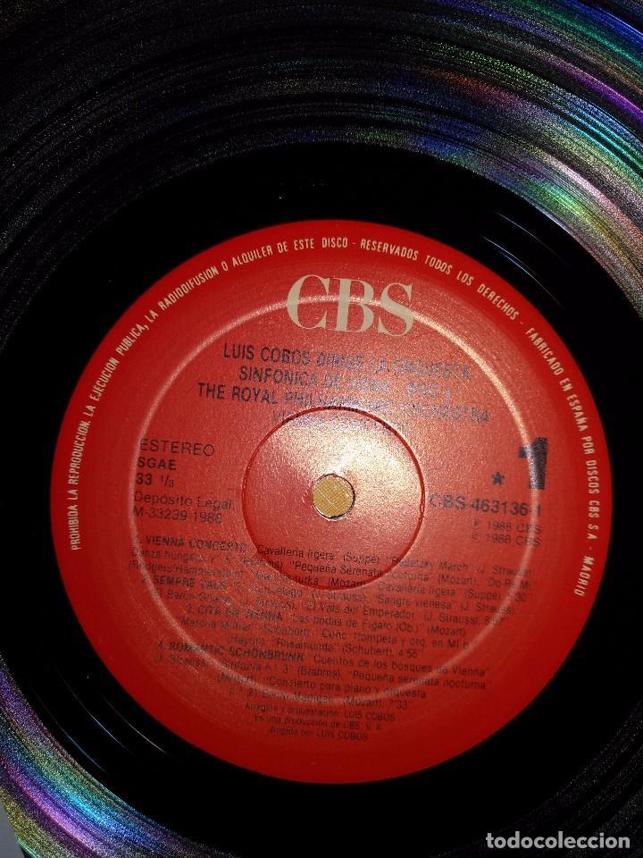 Discos de vinilo: LUIS COBOS - VIENNA CONCERTO - LP 1988 CBS ORQUESTA SINFONICA DE VIENA - Foto 3 - 100720139