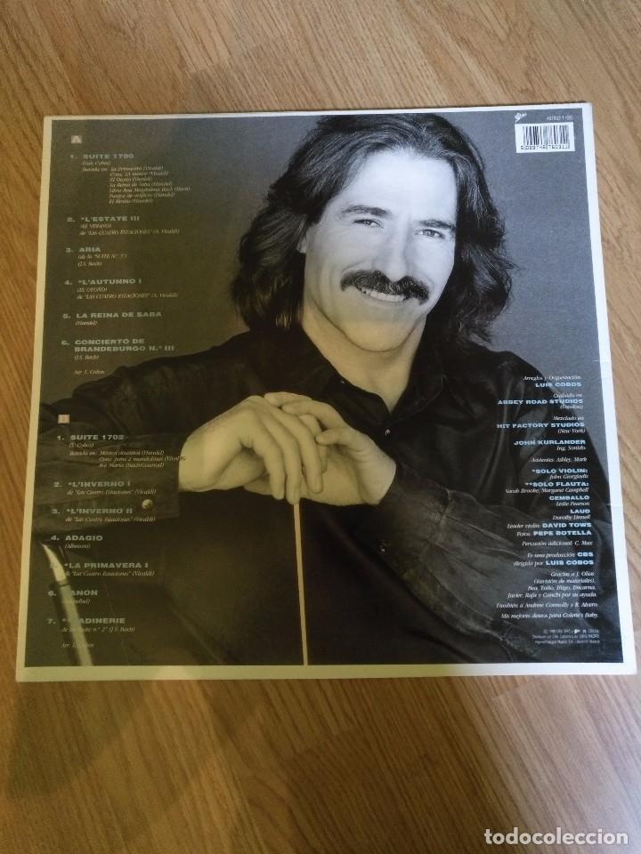 Discos de vinilo: LUIS COBOS - SUITE 1700- LP 1990 CBS CON THE ROYAL PHILHARMONIC ORCHESTRA. - Foto 2 - 100720607