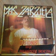 Discos de vinilo: LUIS COBOS - MAS ZARZUELA - LP 1985 CBS CON THE ROYAL PHILHARMONIC ORCHESTRA. . Lote 100720991
