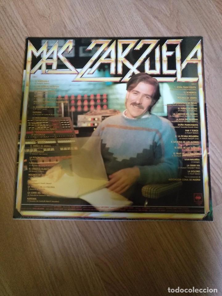 Discos de vinilo: LUIS COBOS - MAS ZARZUELA - LP 1985 CBS CON THE ROYAL PHILHARMONIC ORCHESTRA. - Foto 2 - 100720991