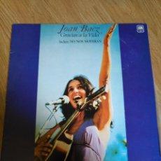Discos de vinilo: JOAN BAEZ - GRACIAS A LA VIDA - LP 1977 CBS INCLUYE NONOS MOVERAN. Lote 100721963