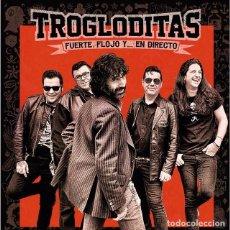 Discos de vinilo: FLOJO, FUERTE... (2XLP 200GR. EN GATEFOLD + LIBRO + CD + DVD). TROGLODITAS EN DIRECTO. Lote 100733867