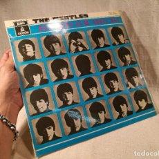 Discos de vinilo: BEATLES - QUE NOCHE LA DE AQUEL DIA 1964 LABEL AZUL MOCL 122 J060-04145. Lote 100735095